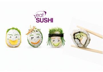 Eat sushi - bonhommes sushis